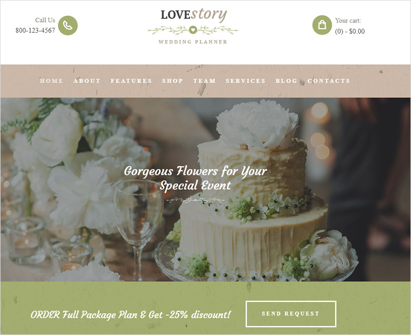 lovestory wedding and event planner wordpress theme