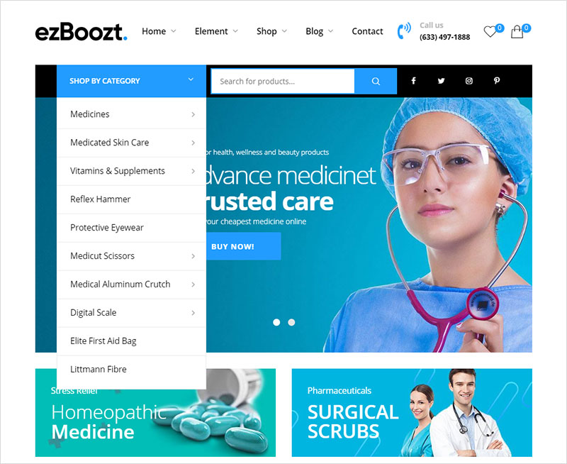 ezboozt - pharmacy wordpress theme