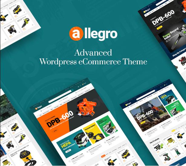 Allegro woocommerce wordpress theme for hand tool & equipment stores