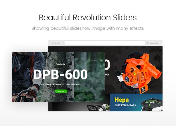 Allegro hand tool & equipment theme integartes Slider Revolution