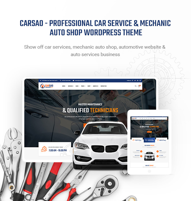 Carsao - Car Service & Auto Mechanic WordPress Theme