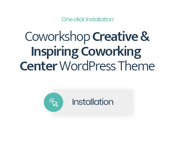 Coworkshop Coworking Center WordPress Theme with 1 click installation