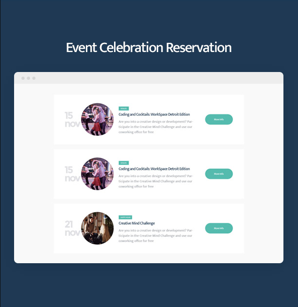 Coworkshop Coworking Space WordPress Theme with events celebration reservation