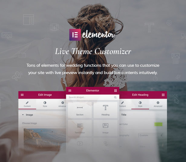 Build WordPress Wedding Theme Perfectly With Elementor Page Builder