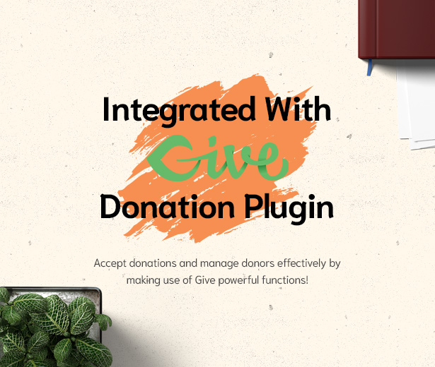 Givelove Non Profit Charity & Crowdfunding WordPress Theme integrated with Give Donation plugin
