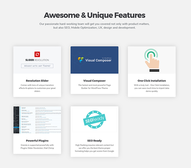 Grenda Event Planners Theme Supported with Unique Plugins Insight