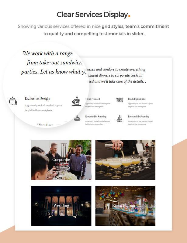 Grenda theme Event Service Provider
