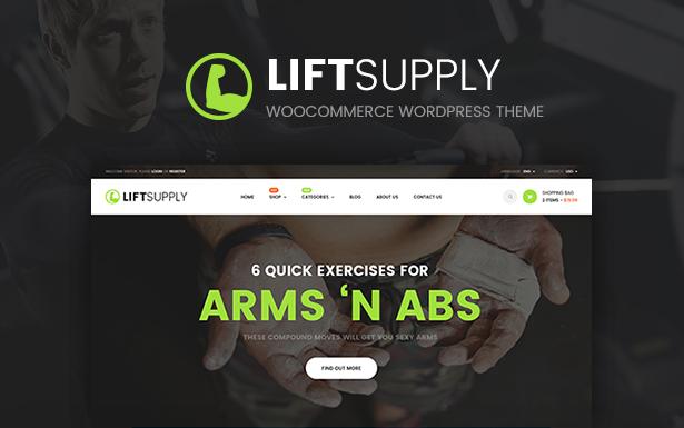 LiftSupply - Creative Single Product WooCommerce WordPress theme