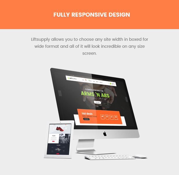 responsive liftsupply single product WooCommerce WordPress theme