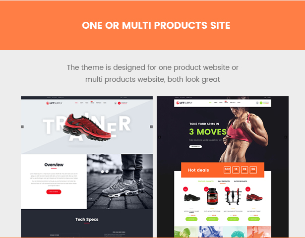 Liftsupply single product WordPress theme for one or multi products site