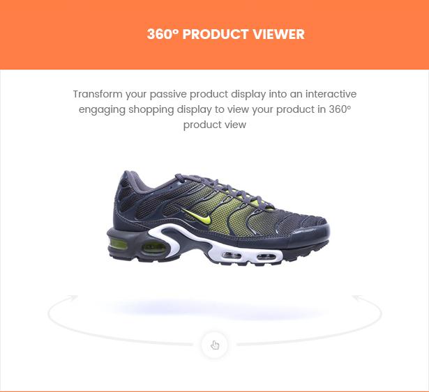 Liftsupply single product WordPress theme 360 degree preview
