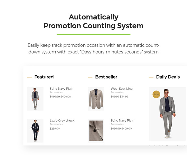 Counting System Limonta - Modern Fashion WooCommerce WordPress Theme