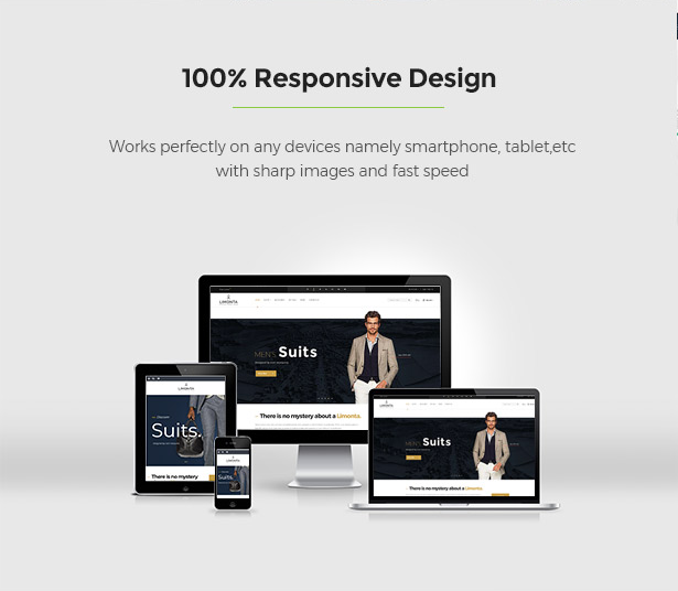 Compatible with any devices Limonta - Modern Fashion WooCommerce WordPress Theme