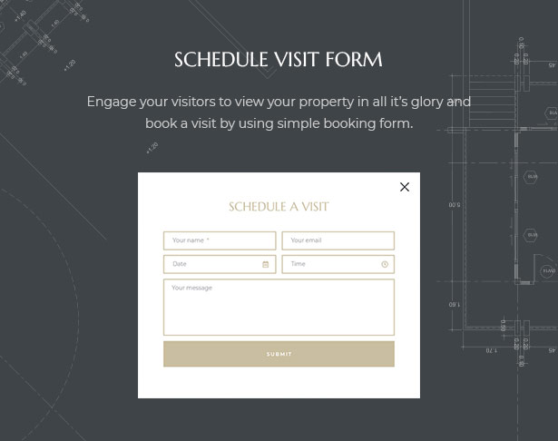 Professional Schedule Visit Form in MaisonCo Single Property For Sale & Rent WordPress Theme