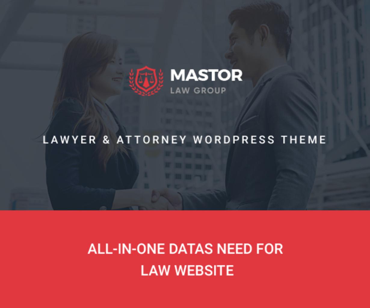 Mastor - Law, Firm & Legal Attorney WordPress Theme