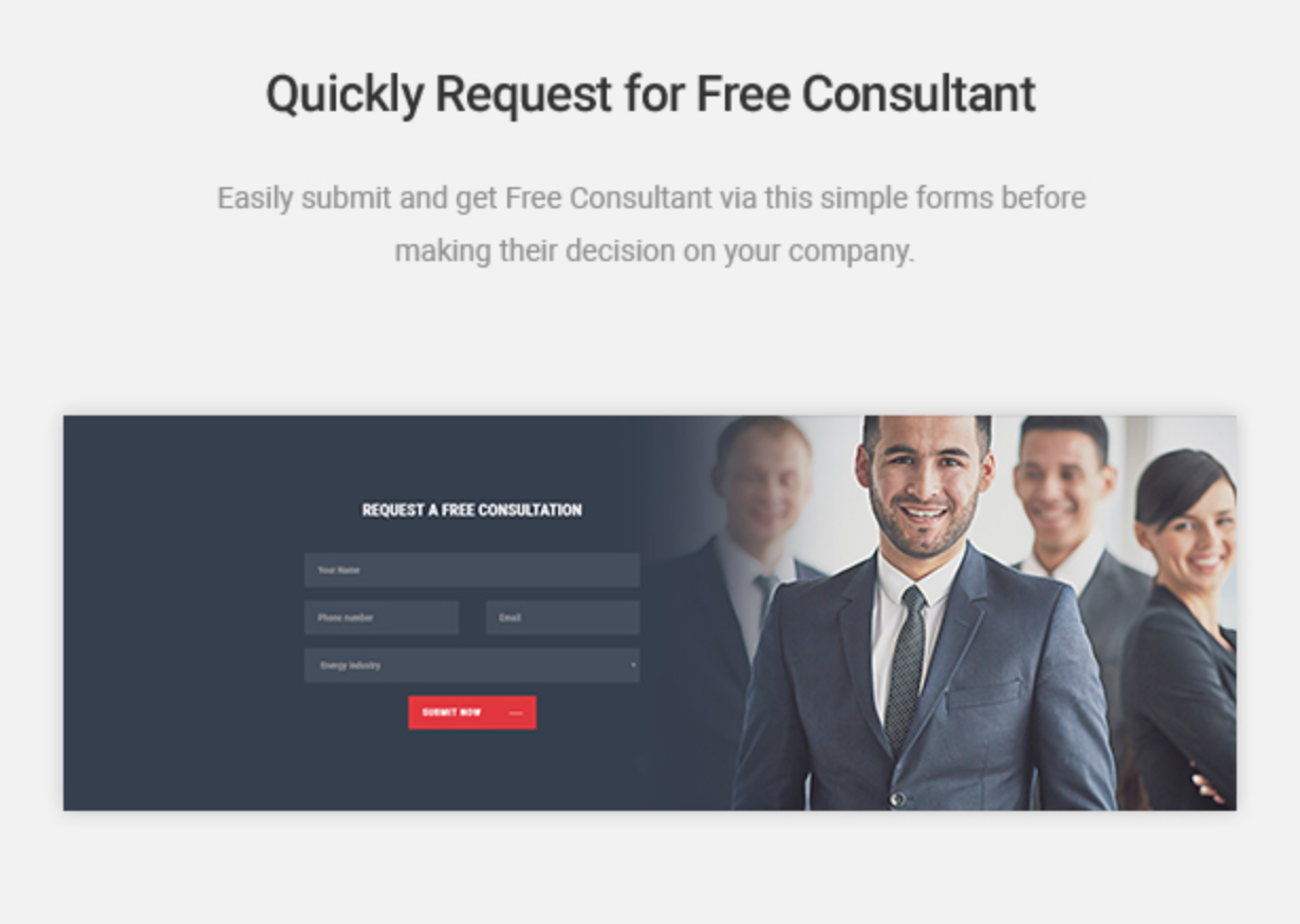 Mastor - Law, Firm & Legal Attorney WordPress Theme Contact Form For Free Consultant