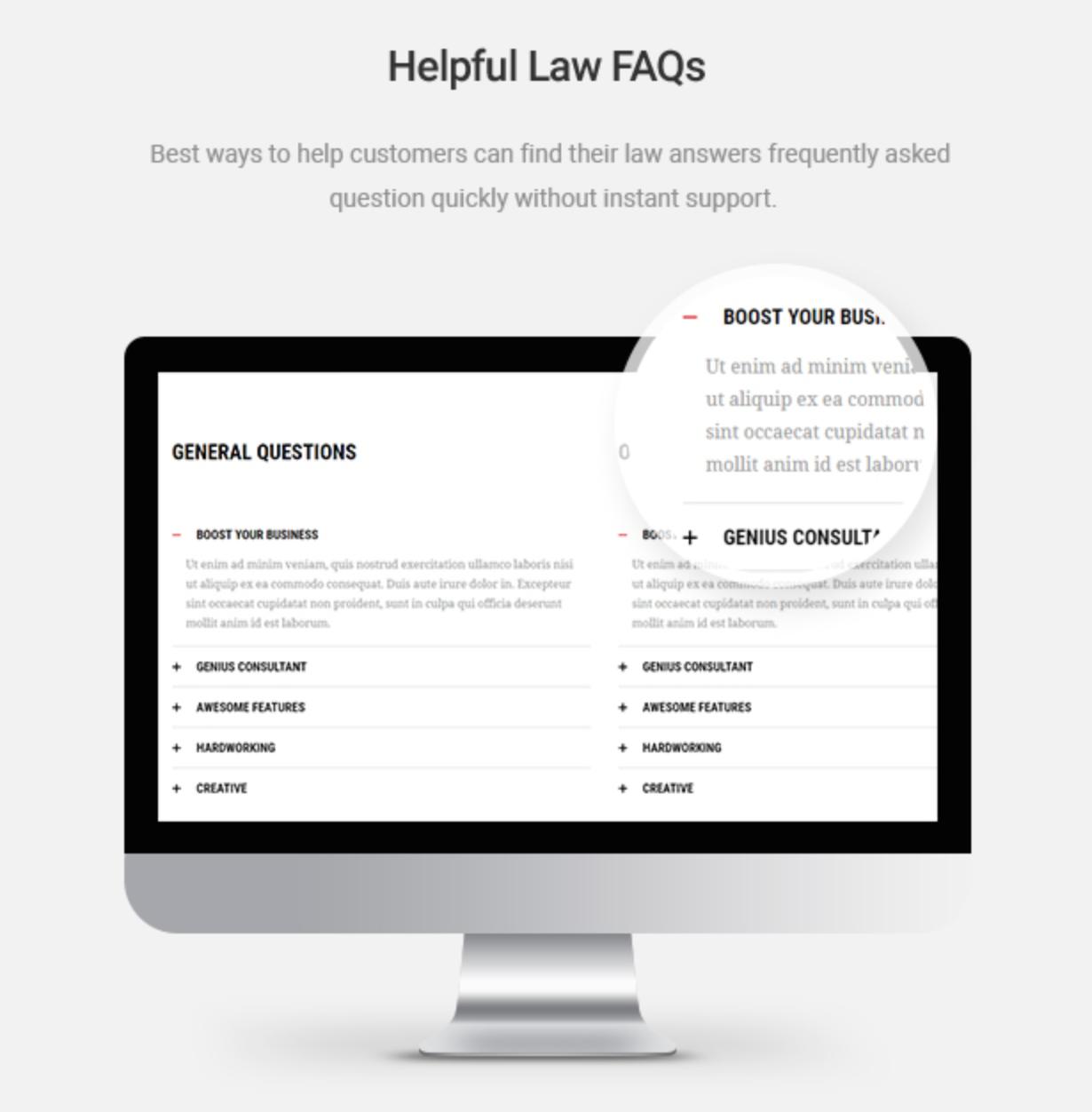 Mastor - Law, Firm & Legal Attorney WordPress Theme Helpful Law FAQs
