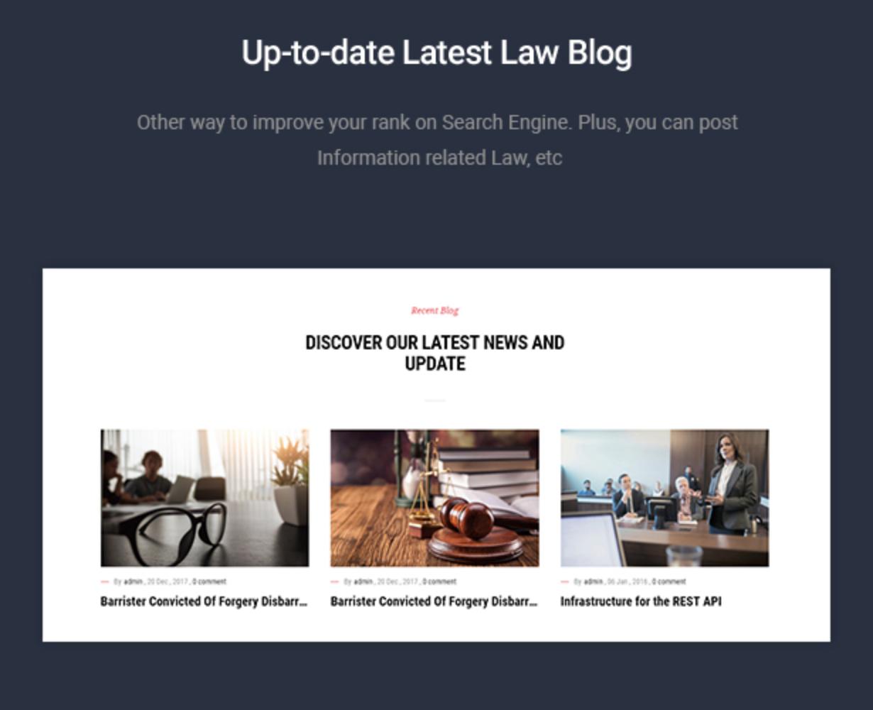 Mastor - Law, Firm & Legal Attorney WordPress Theme Blog Layouts