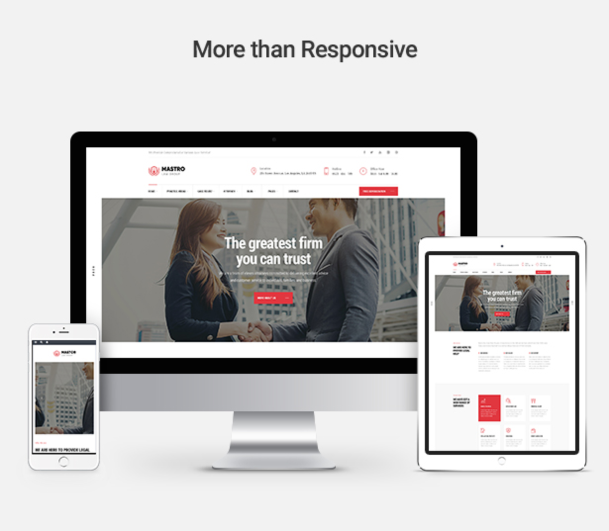 Mastor - Law, Firm & Legal Attorney WordPress Theme Responsive Layouts