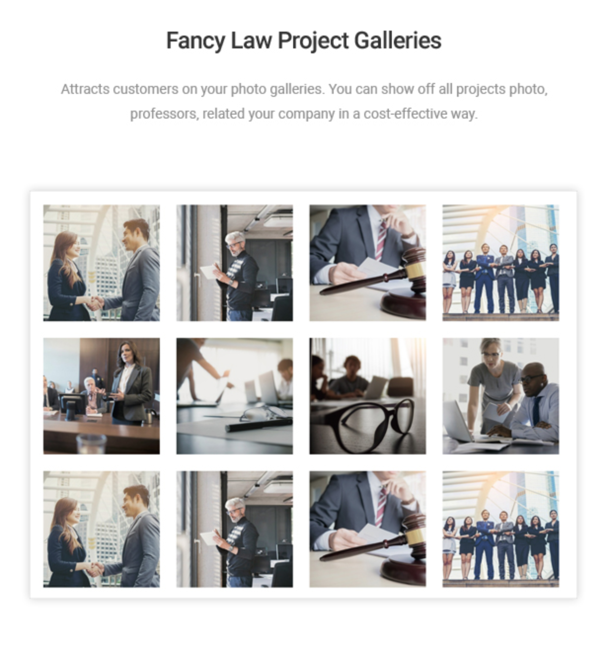 Mastor - Law, Firm & Legal Attorney WordPress Theme Law Project Gallery