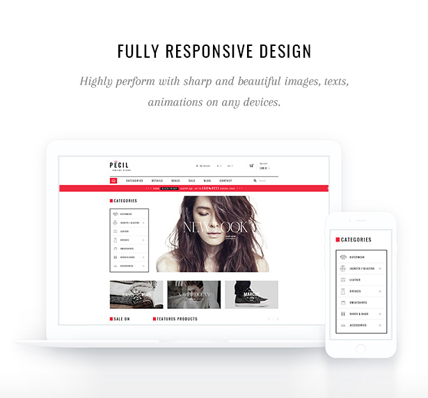 Pecil Fully Responsive Design