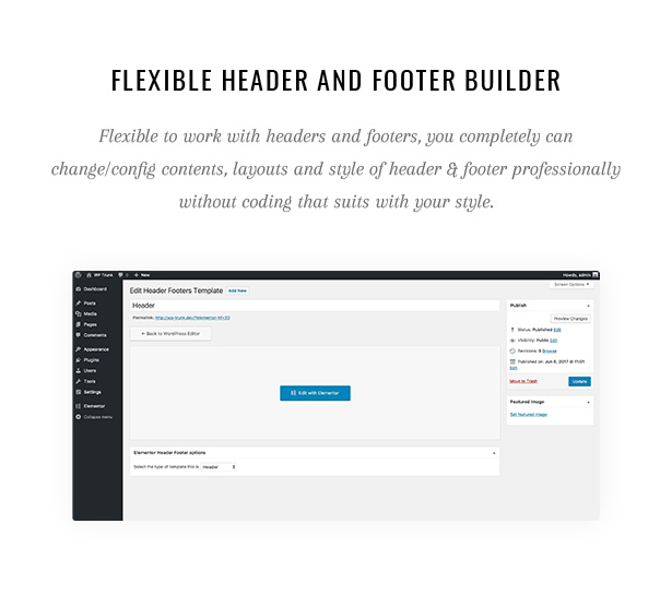 Pecil Flexible Header and Footer Builder
