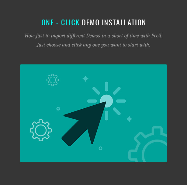 Pecil One - Click Demo Installation