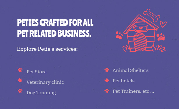 Petie - Pet Care Center & Veterinary WordPress Theme Crafted For All Pet Related Business