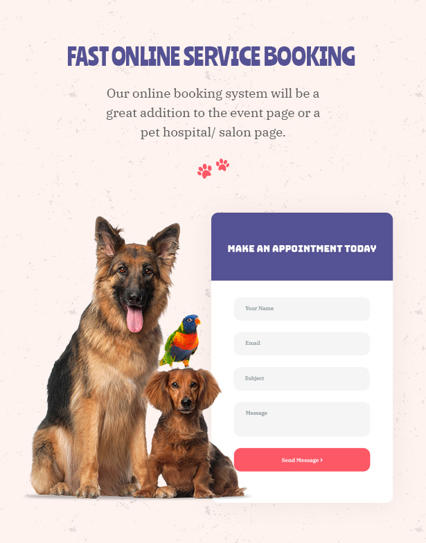 Petie - Pet Care Center & Veterinary WordPress Theme Online Booking