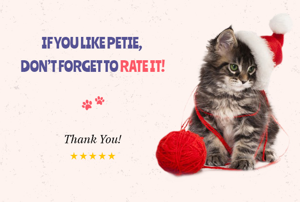 Petie - Pet Care Center & Veterinary WordPress Theme Purchase Petie Now