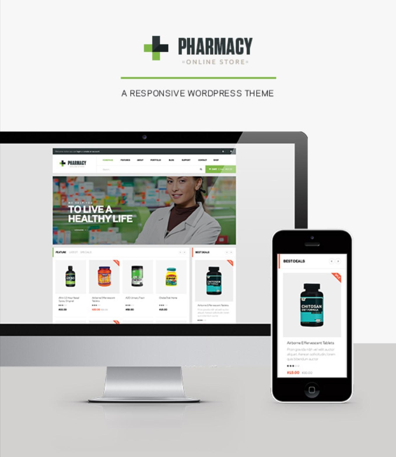 Pharmacy Best Selling WordPress Theme For Medicine & Healthcare