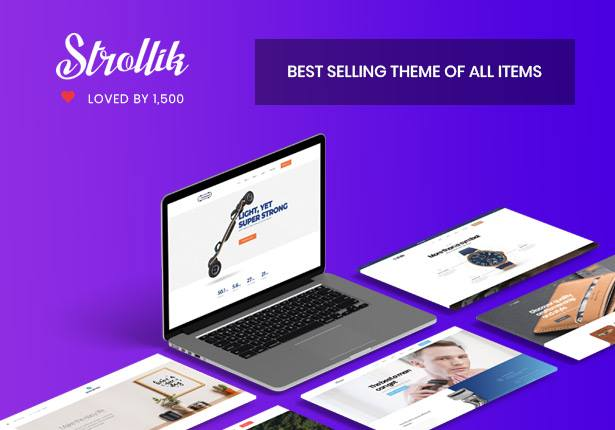 best Strollik single product WooCommerce WordPress theme