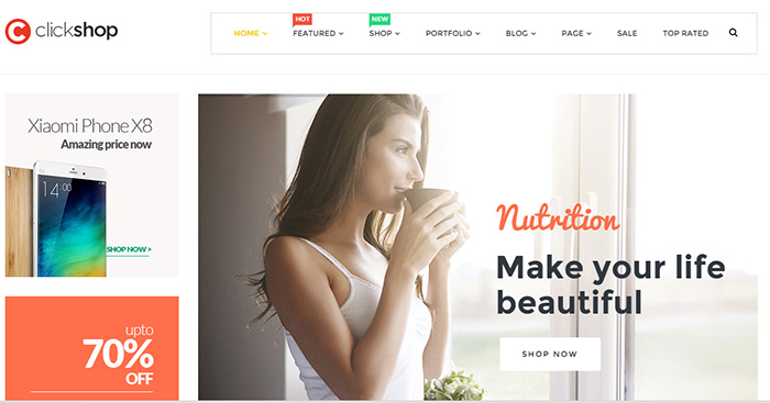 Review ClickShop – WooCommerce WordPerss Theme