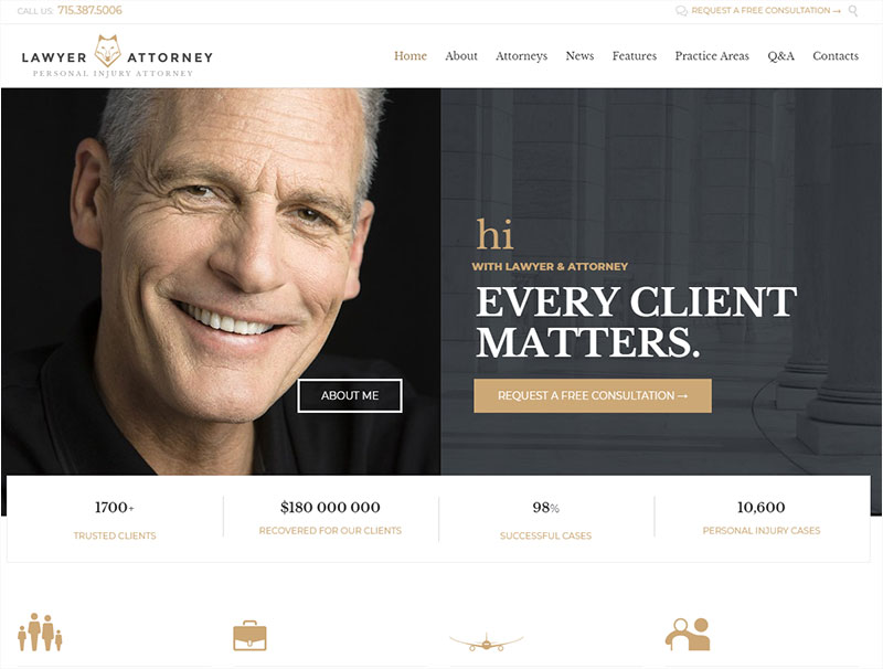 lawyer-&-attorney wordpress theme