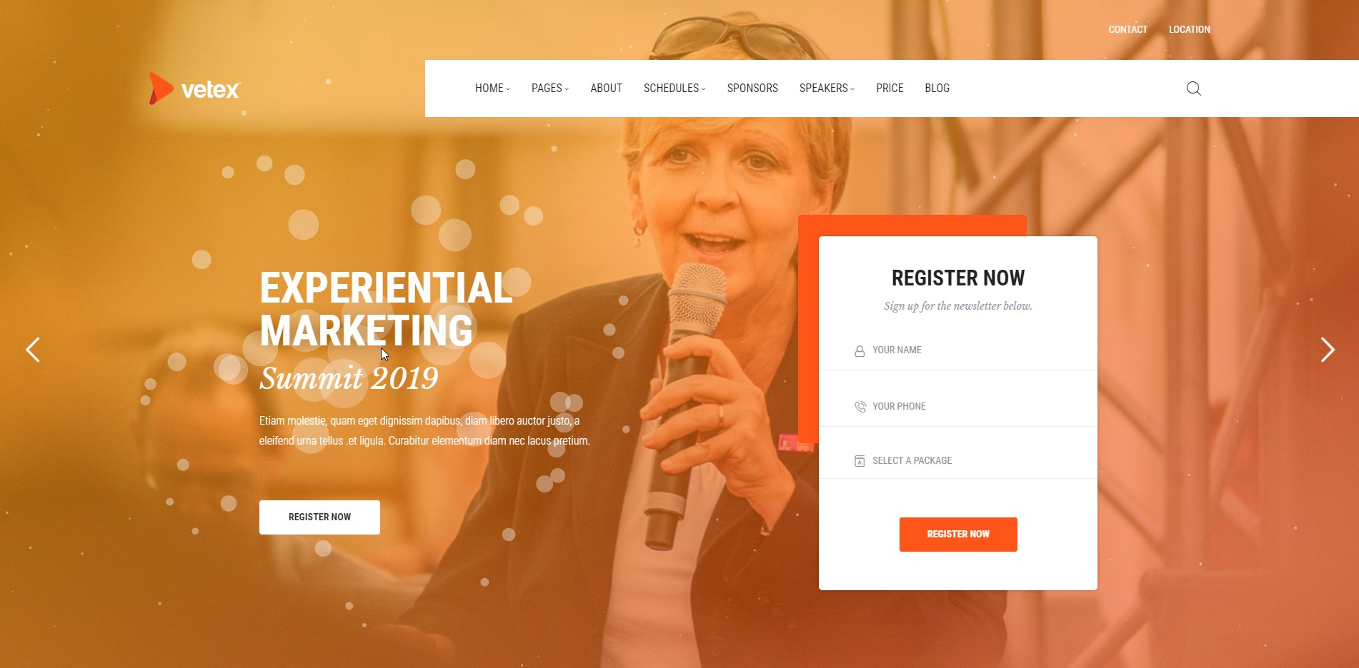 Vetex - Events WordPress Theme