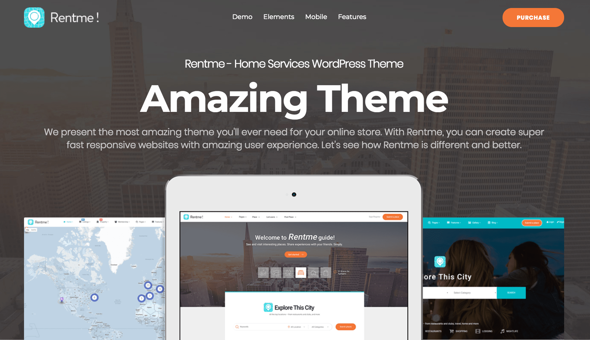 rentme multipurpose wordpress theme