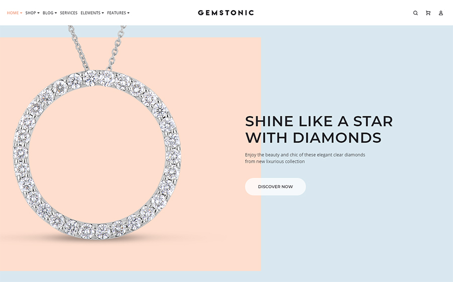 Gemstonic - Jewelry Elementor WooCommerce Theme<img src=