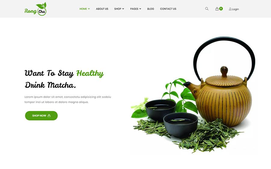 Rongcha - Matcha WooCommerce Theme <img src=