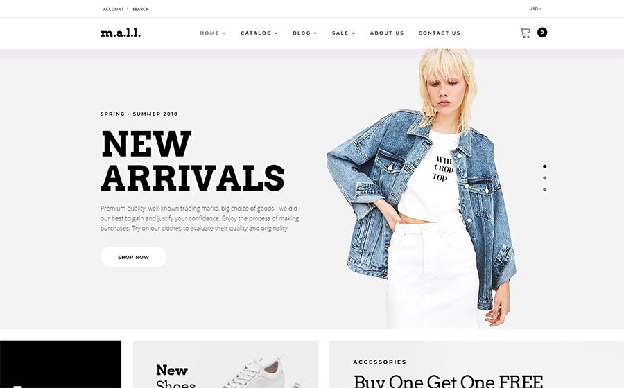 m.a.l.l. - Clothing Store Shopify Theme<img src=