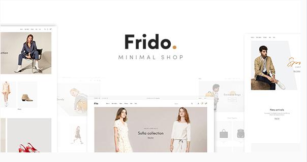 best fashion WordPress theme Frido minimal shop