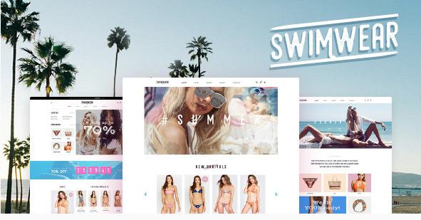 best fashion WordPress theme Swimwear summer shop