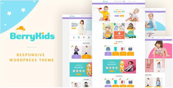 best fashion WordPress theme BerryKid baby store