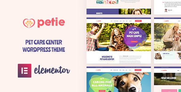 Petie best pet care center WordPress theme 2019