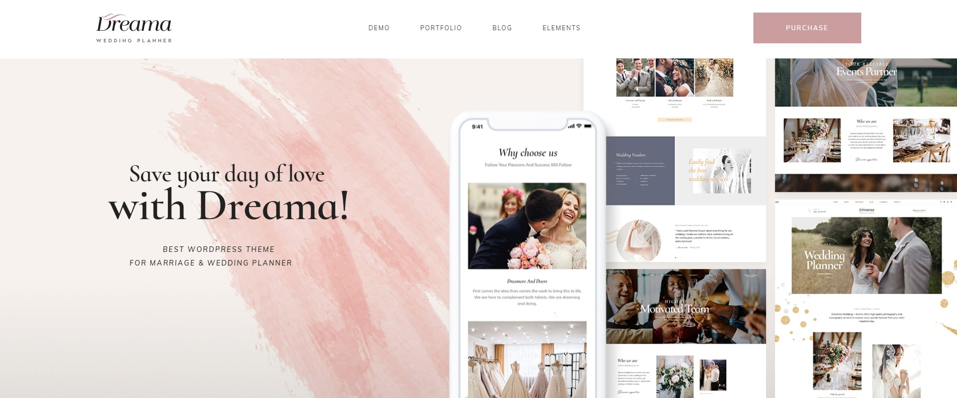 Dreama - Engagement & Wedding Shop WordPress Theme | Premium & Responsive