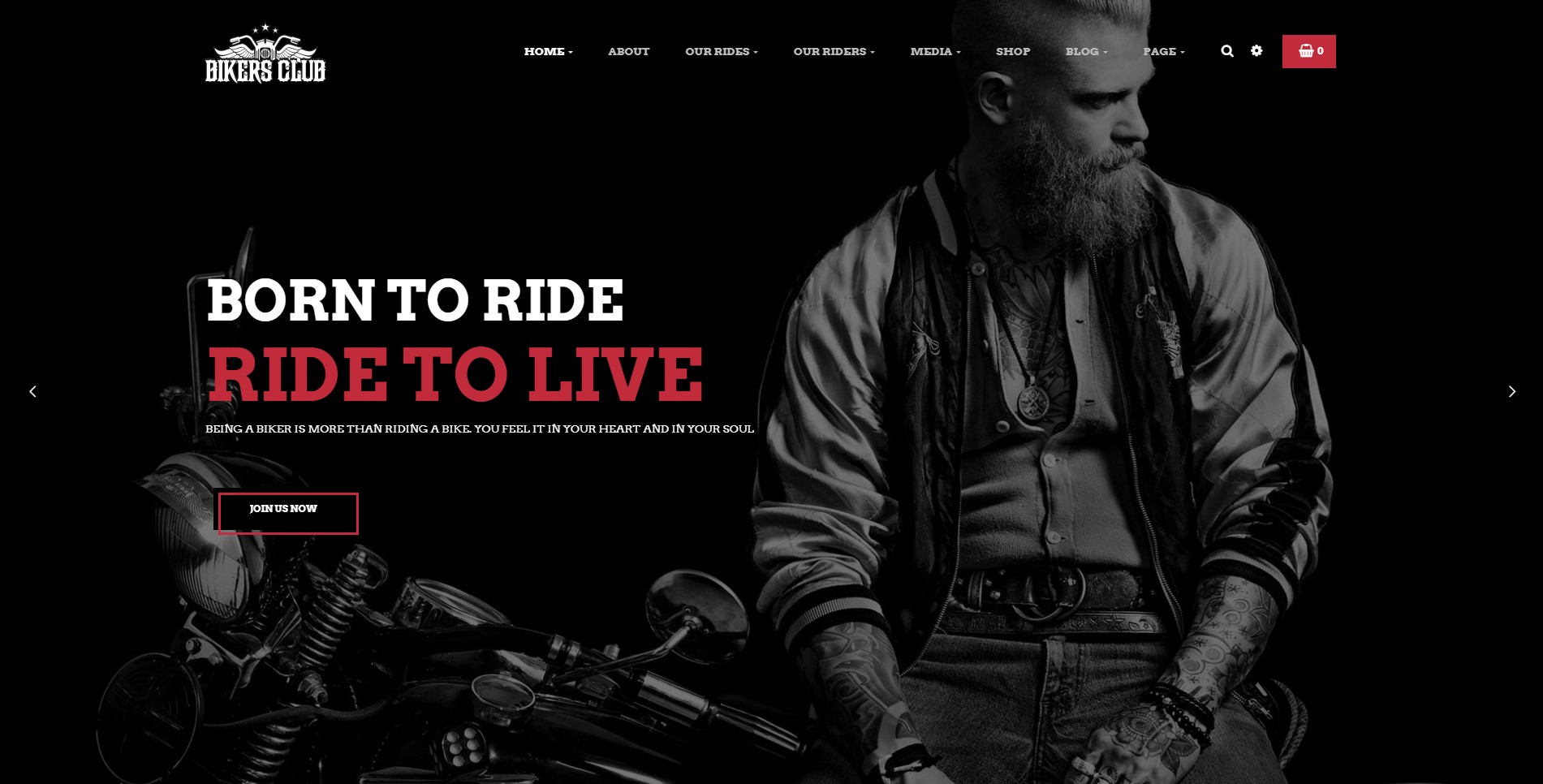 Bikersclub – Motorcycle Responsive WordPress Theme