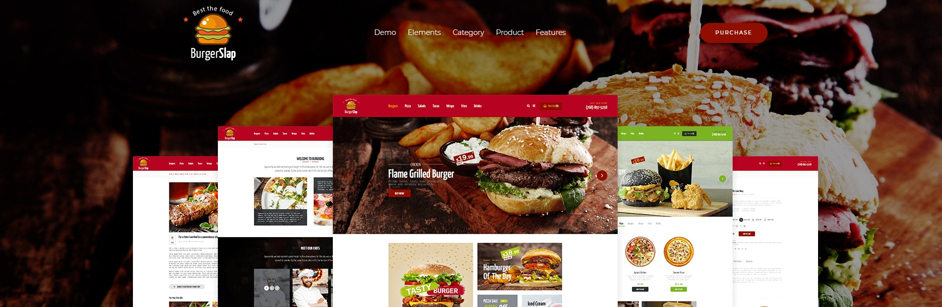 Burger Slap – Fast Food Restaurant WordPress Theme