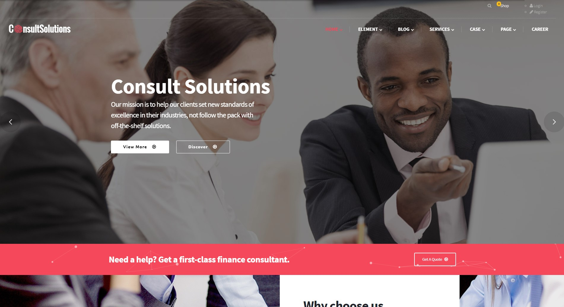 Consult Solution - Business, Finance & Corporate WordPress Theme