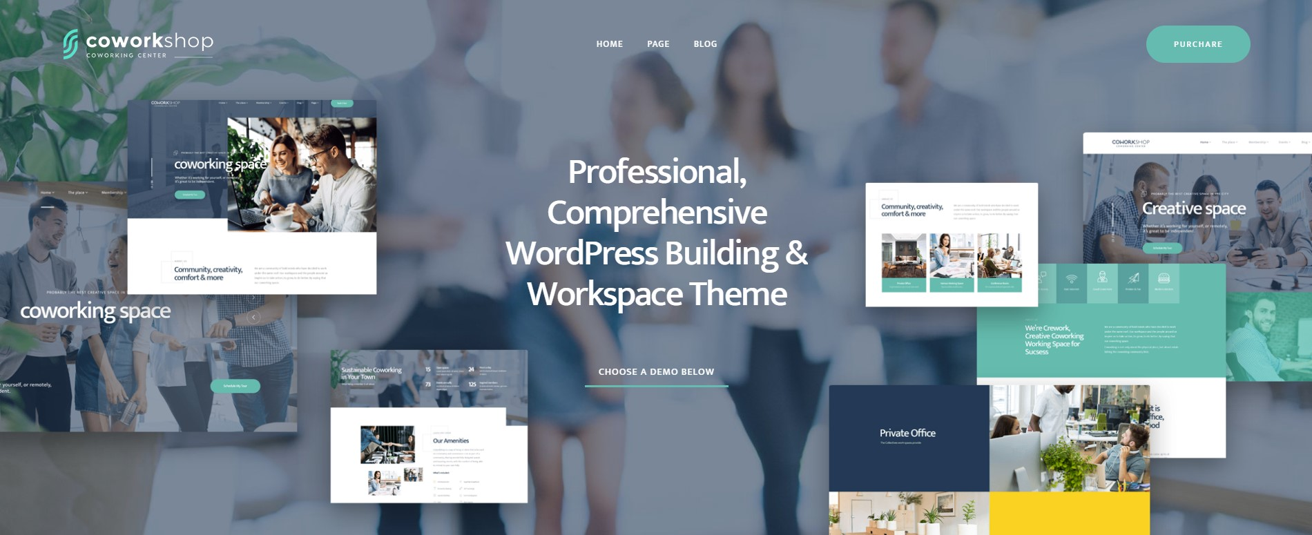 Coworkshop Coworking Space WordPress Theme