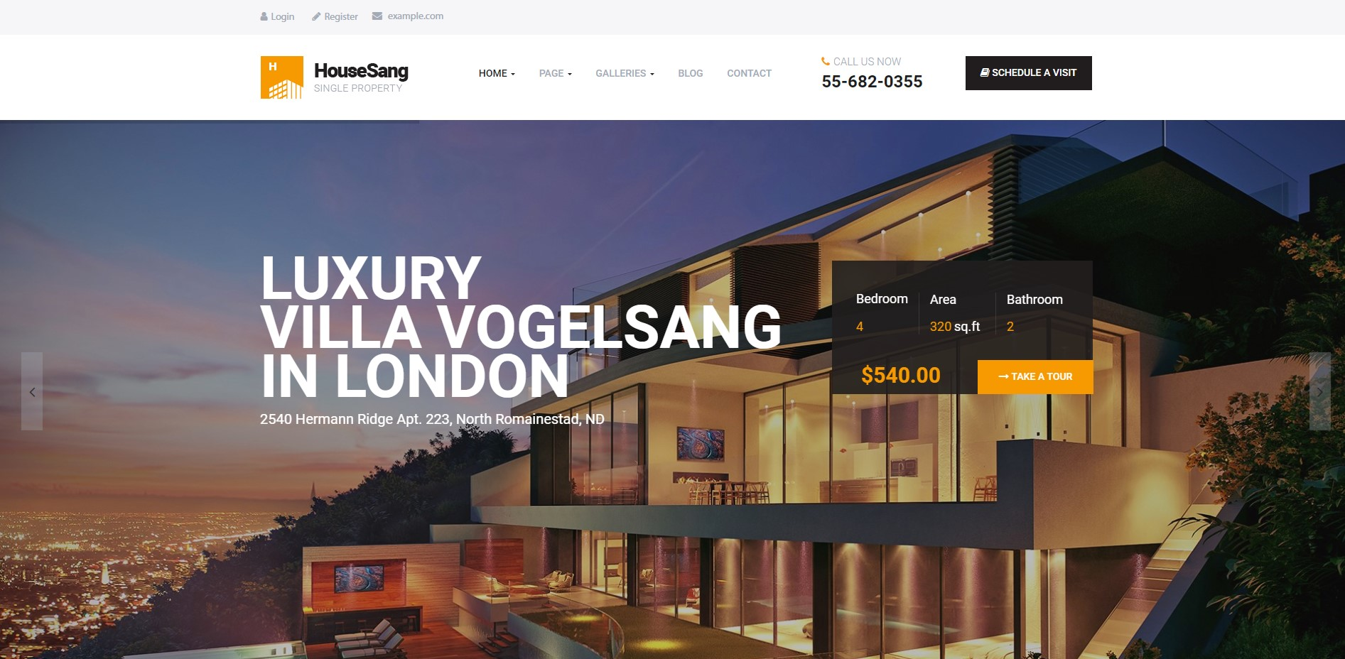 HouseSang Best Single Property WordPress Theme