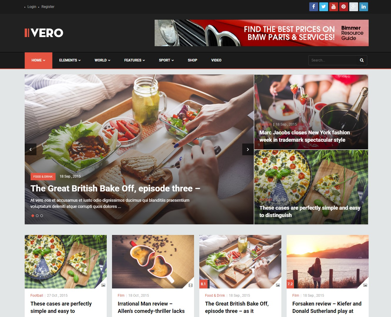 Vero – Responsive Blog & Magazine WordPress Theme